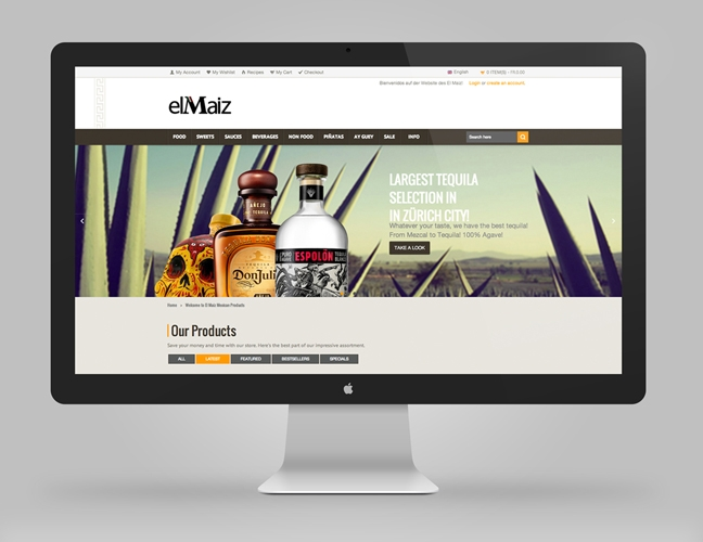 El Maiz – Ecommerce website