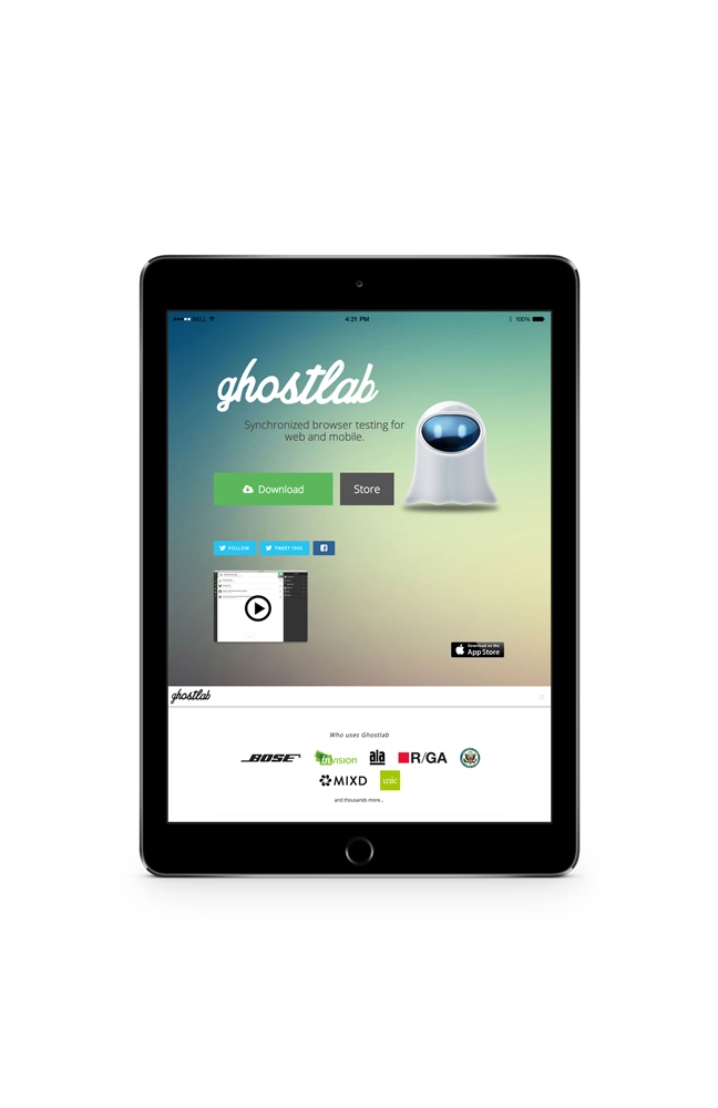 Ghostlab website